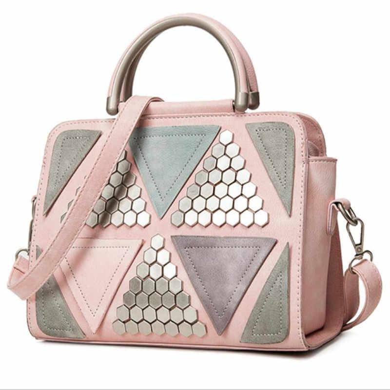 Lenço de presente Das Mulheres rebites bolsa bolsa de Ombro envelope Embreagem noite Saco pacote diagonal Senhoras sacos de Ombro Saco de Embreagem do Sexo Feminino Rosa