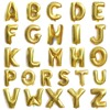 26pcs Set 16 Inch Cute Silver Gold Alphabet A To Z Foil Letters Balloons New Year