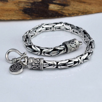 Wholesale Genuine 100 Real Pure 925 Sterling Silver Thick Men Bracelet Safe Bracelet Free Shipping Men