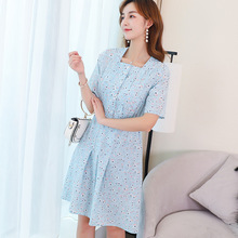 Bohemia Sexy Chiffon Women Dress 2019 Summer Style Casual Short sleeve Slim Dresses Flower Print  Vestidos