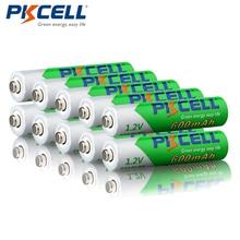 10 יח\חבילה PKCELL 1.2 V AAA NIMH נטענת טעונה מראש 600 mAh Ni MH נמוך משוחרר עצמית סוללות 1200 מחזורים