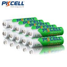 10 sztuk/partia PKCELL 1.2 V AAA NIMH wstępnie naładowany akumulator 600 mAh Ni MH niskie poczucie rozładowane baterie 1200 cykli