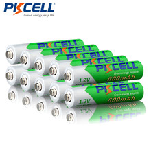 10 sztuk/partia PKCELL 1.2 V AAA NIMH wstępnie naładowany akumulator 600 mAh Ni-MH niskie poczucie rozładowane baterie 1200 cykli