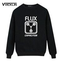 אופנה גברים סווטשירט קפוצ 'ונים צמר Flux Capacitor בחזרה לעתיד על ידי מותג כותנה שרוול חולצות גודל פלוס