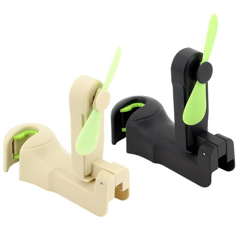 Universal Car Headrest Hanger With Fan Seat Back Storage Hook Clip For Bag Handbag Purse Groceries Auto Accessories