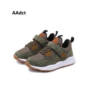 Детские кроссовки AAdct, спортивная обувь для мальчиков, сетчатые дышащие кроссовки для девочек, брендовая мягкая обувь высокого качества, 2019