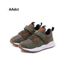 AAdct 2019 crianças correndo sapatos calçados esportivos sapatos Meninos sapatilhas de respiração Malha sapatas dos miúdos para meninas Marca de Alta Qualidade macio