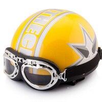 Hot Sale Unisex New Vintage Motorcycle Helmets Open Face Half Motorbike Motocross Goggles Helmet