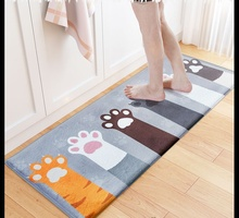 Cute Welcome Floor Mats Animal Cat Claw Printed Bathroom Kitchen Carpets Doormats Mat for Living Room Anti-Slip Tapete