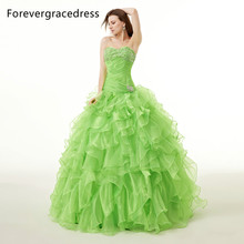 Forevergracedress Real Images Gorgeous Quinceanera Dress New Sweetheart Long Ruched Ruffles Beaded Formal Party Gown Plus Size