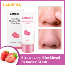 LANBENA Strawberry Blackhead Remover Acne Treatment Nose Mask Mud Pore Strip Black Mask Pe