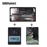 BitFunx FMCB Memory card PS2 1.953 8MB + Game Star SATA adapter + 500GB 100 games for SATA HDD Hard Disk Drive