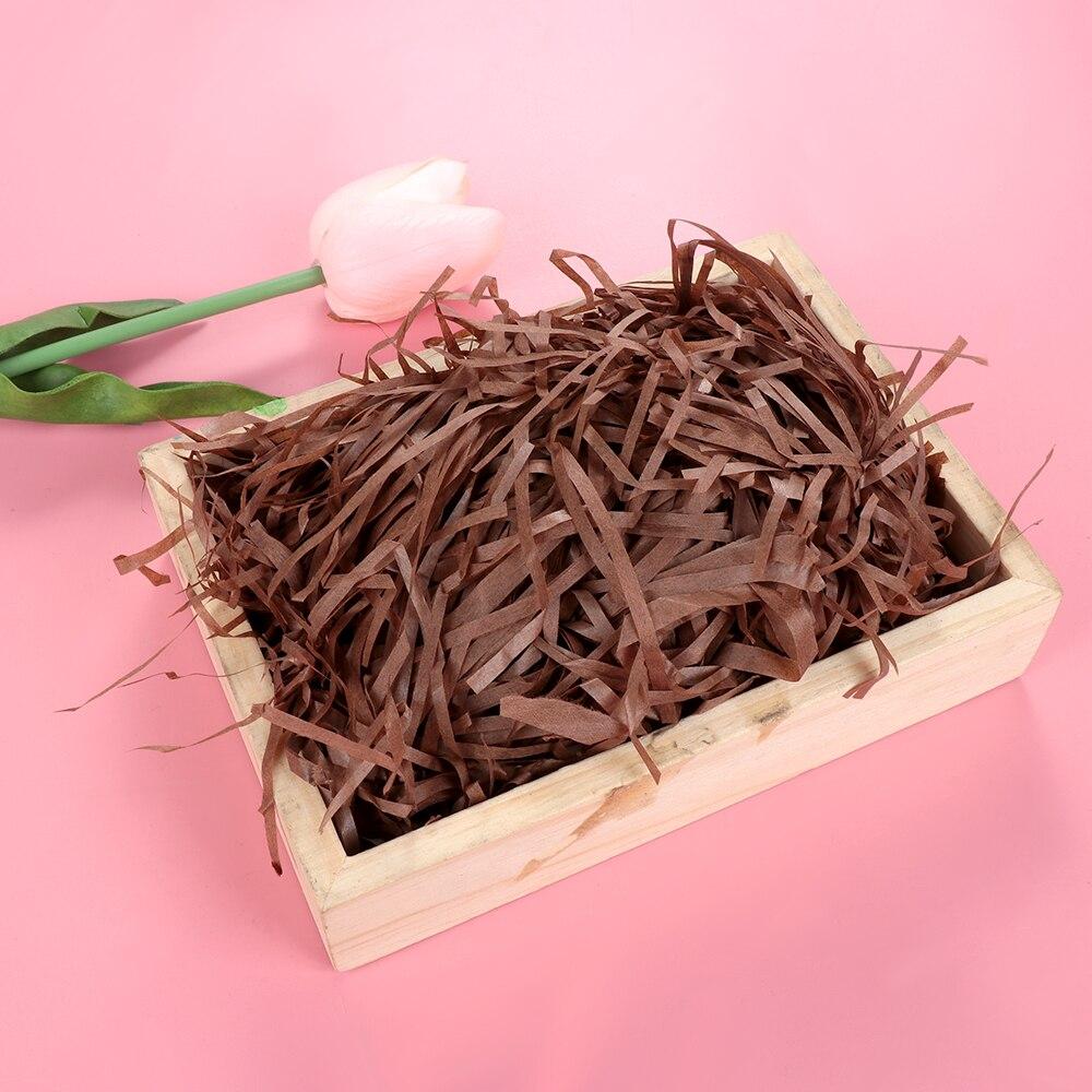 Natural jute soie Papier Cadeau Boîte de remplissage de matériau d/'emballage Confettis bricolage cadeaux