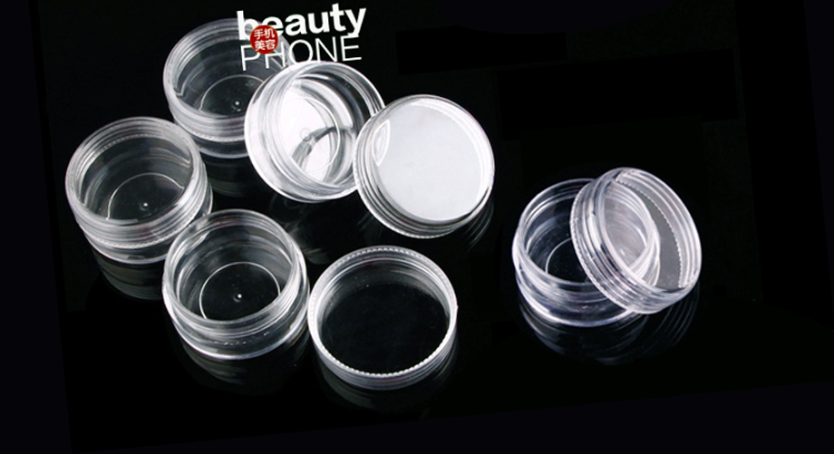 Monet koot Clear Round Box Muovikotelo Järjestäjä DIY -työkalulle - Kodin varastointi ja organisaatio - Valokuva 6