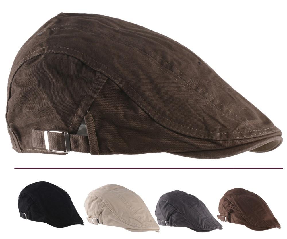 2015 New Solid Fashion Flat Cap Mens Sport Golf Driving Gorra Plana Beret Boina Hats