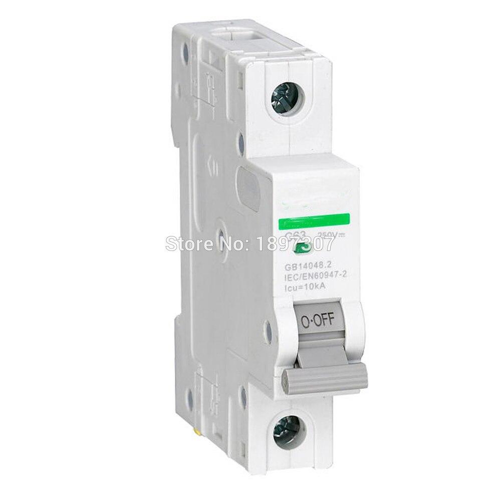 все цены на 1P DC Miniature circuit breaker non polarized dc breaker with TUV for solar generation 1~63A онлайн