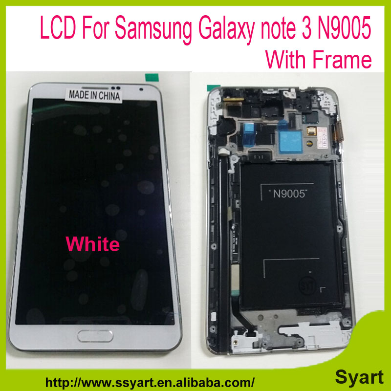 N9005 lcd with Frame white in stick For Samsung Galaxy note 3 N9005 LCD Screen LCD Display Touch Screen Digitizer Glass Panel