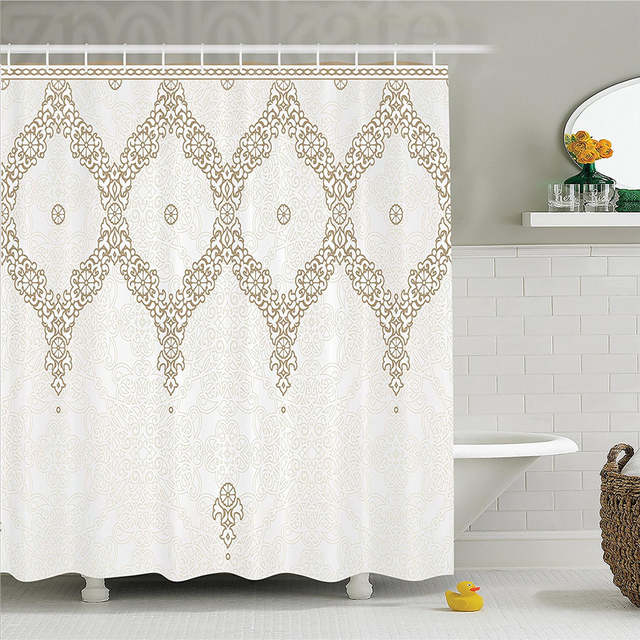 Online Shop Moroccan Decor Extra Long Shower Curtain Decorative Ornate Background With Traditional Soft Colored Eastern Element And Pattern