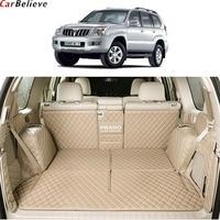 Car Believe car trunk mat For toyota land cruiser prado 120 150 Accessories 7 seats Cargo Liner Interior Carpet car styling
