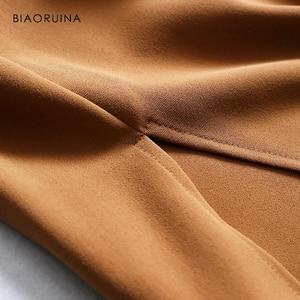 Image 5 - Biaoruina 女性固体エレガントなトウェディングドレスミッドカーフ長女性カジュアルサイドスプリットドレス女性のヴィンテージ a ラインドレス