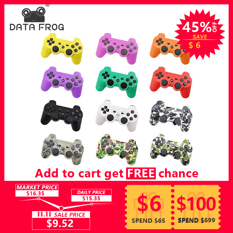 Data Frog For Sony Playstation 3 For PS3 Controller Wireless Bluetooth Gamepad Joystick For Sony Playstation 3 For PS3 Gamepads for sony ps3 controller bluetooth gamepad for playstation 3 joystick wireless console for sony playstation 3 sixaxis controle pc