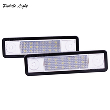 2x Car LED License Plate Lights 12V White Number Plate Lamp For Vauxhall For Opel Corsa B Astra F G Omega Zafira Signum Vectra B 2x car 18 led license plate lights 12v white number plate lamp for opel astra g astra f corsa b zafira a vectra b for omega a