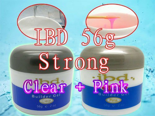 Special Offer! ! 2X  2015 New Original 56 g / 2 oz Strong  IBD UV Builder Gel Nail Art Tips Clear + Pink 2 PCS
