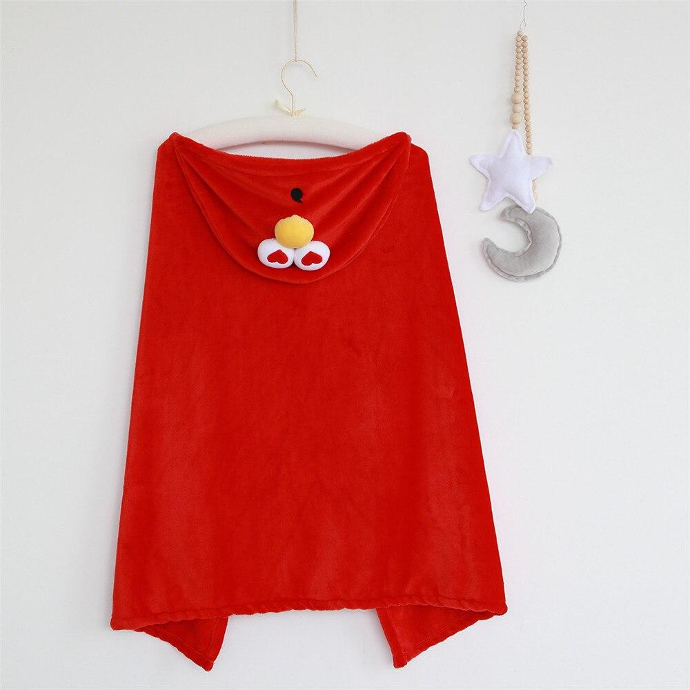 699efd9e Super cute Sesame Street Blue Cookie Monster And Elmo cosplay costume soft  hooded cloak warm blanket