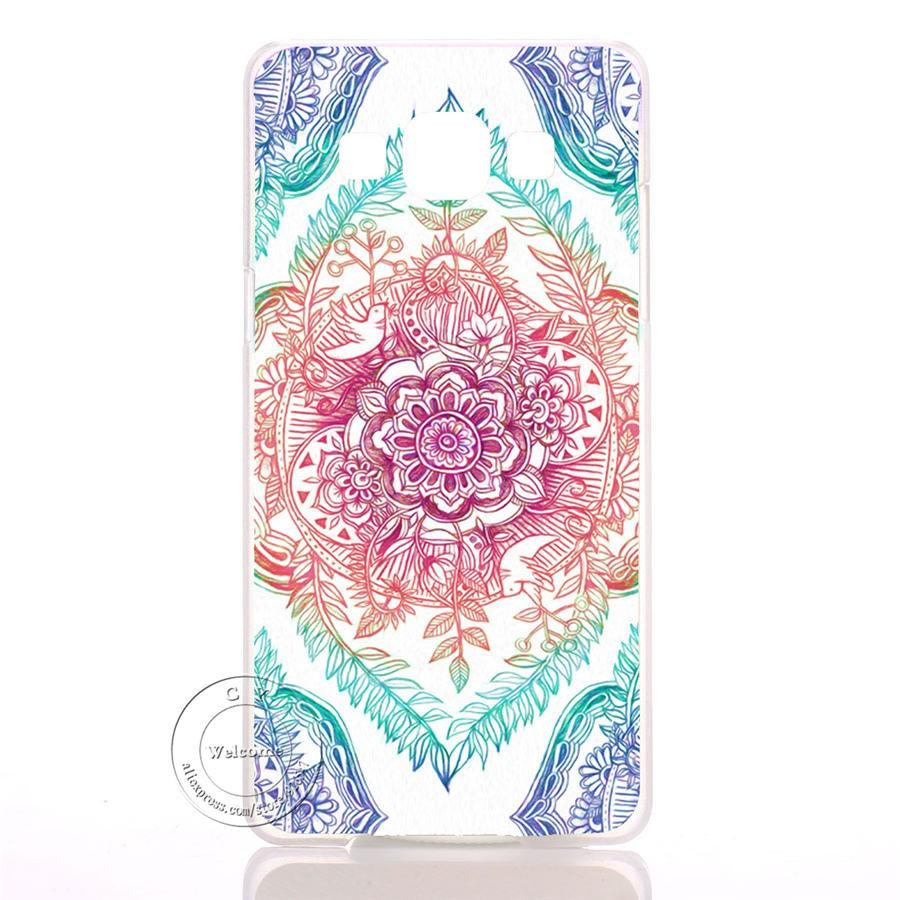 Mandala Kwiat Datura Floral Przezroczysty Twardy Plastik Skrzynki Pokrywa Dla Samsung Galaxy Krawędzi S6 S7 S3 S4 S5 Mini Uwaga 2 3 4 5 7 2