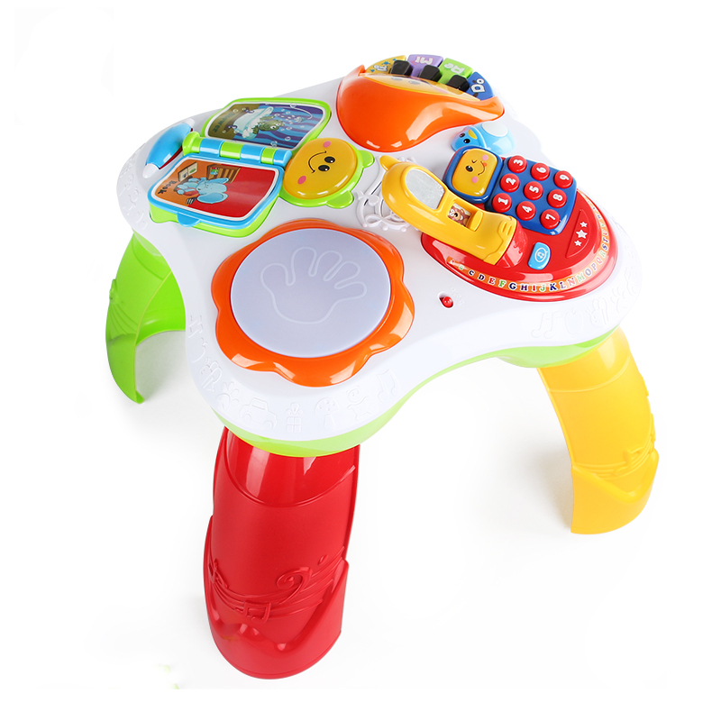Activity & Gear Multifunction Language Learning Table For Kids Baby Early Educational Toy Walker Tablet Reading Machine Puzzle Game Desk
