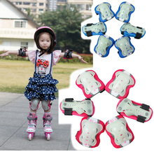 6pcs/set Glow-in-the-dark Skating Protective Gear Sets Elbow pads Bicycle Skateboard Ice Skating Roller Protector For Kids
