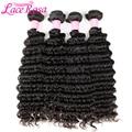 Brazilian Deep Wave Hair 1/3/4 Bundles Human Hair Weave Natural Color Remy Hair Bundles Lace Rosa 10-28 inch Free Shipping