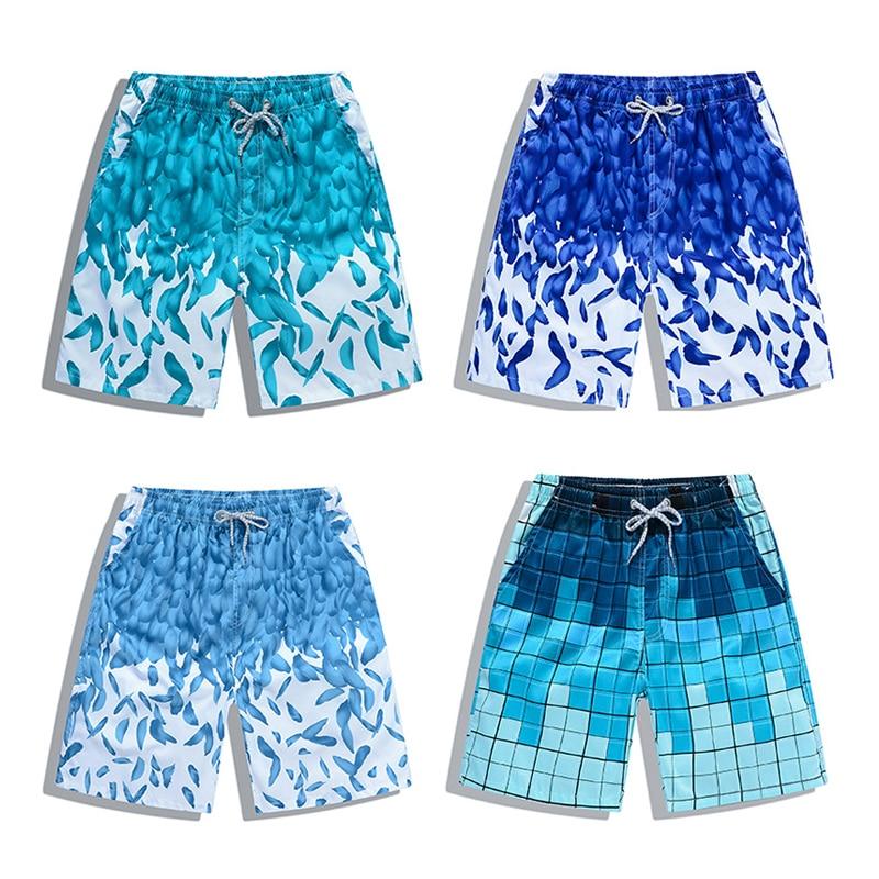 New Beach Shorts Men Women Printed Couple Swimwear Quick Dry Elastic Swim Trunks Surf Summer Swimming Briefs Men Casual Shorts 4