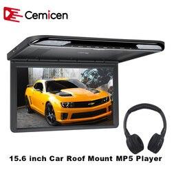 Cemicen 15.6 Cal HDMI 1920x1080 FULL HD do montażu na dachu samochodu opuść telewizji cyfrowej ekran monitora MP5 odtwarzacz z USB/SD/IR/FM/głośnik