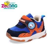 Детская зимняя теплая мягкая подошва против скольжения Обувь для мальчиков хлопок тапки для новорожденных бег Крючки школьная Спортивная обувь дышащая