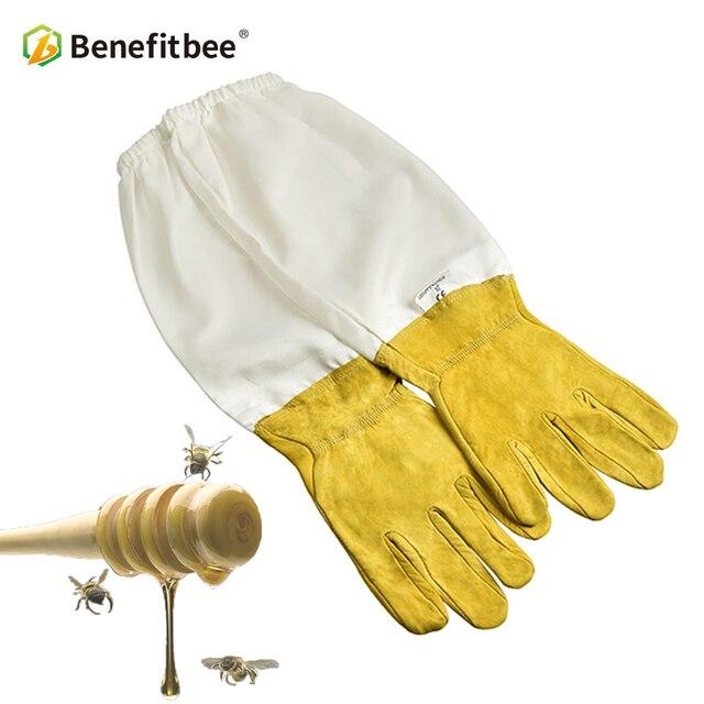 Benefitbee Apicoltore Prevenire Guanti di Protezione Maniche Ventilato Professio