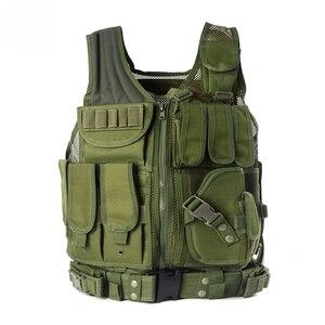 Image 5 - Zuoxiangru Unloading Tactical Men Combat Vest Tactical Army Military Fans Camouflage Vest Body Cs Jungle Equipment