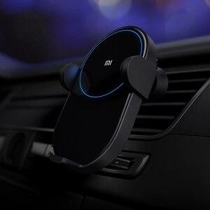 Image 5 - オリジナルxiaomi mi WCJ02ZM 20ワット最大インテリジェント赤外線センサー急速充電チー車のワイヤレス充電器自動車電話ホルダー