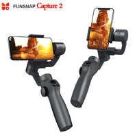 2019 neue Funsnap Erfassen 2 3-achse Telefon Griff Gimbal Stabilisator steadicam für Smartphone VS Zhiyun Glatte 4 Feiyu vimble 2