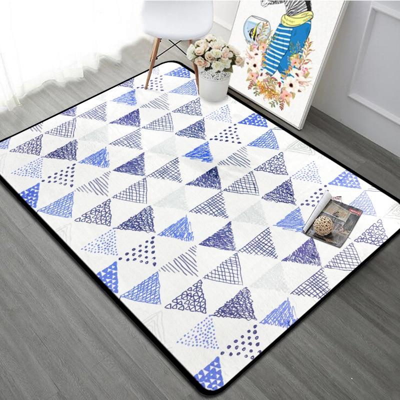 Tapis géométrique nordique salon mode tapis doux chambre canapé Table basse tapis étude tapis de sol enfants ramper Tatami tapis