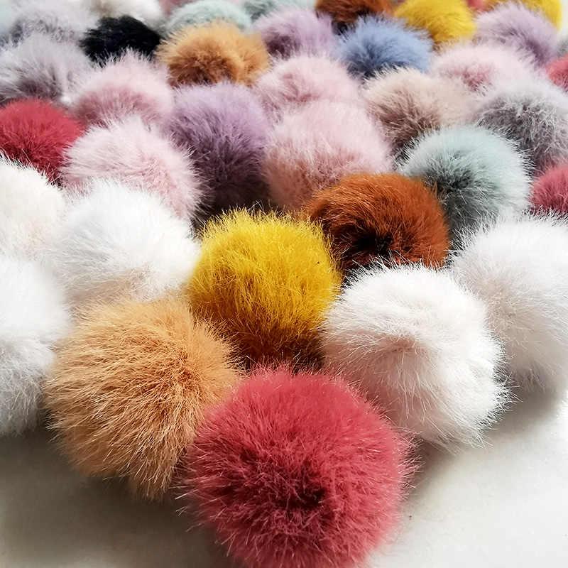 2.5CM 3CM 3.5CM 4CM 1PC Small Pom Pom Artificial Mink Fur Ball Handmade For Diy Keyrings Girls' Earrings Accessories shoes cloth