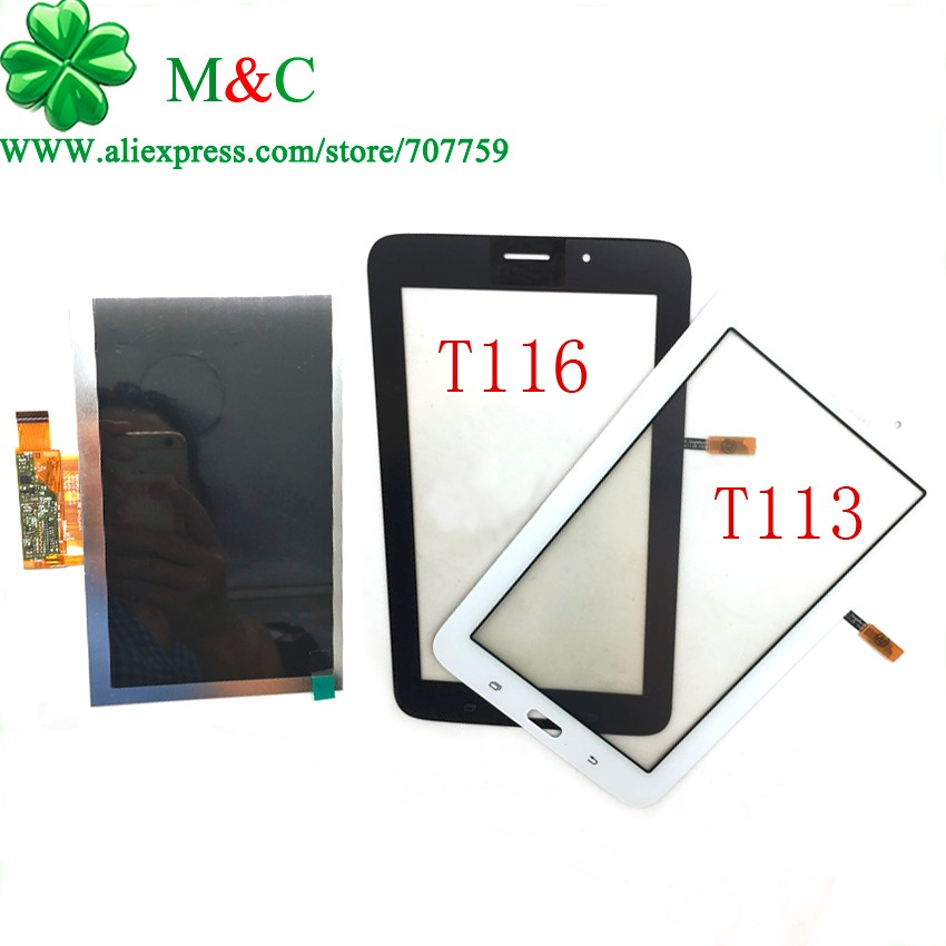 OEM T113 T116 LCD Display Touch Panel for Samsung Galaxy Tab 3 Lite SM-T113 T116 LCD Touch Screen Digitizer Panel Tracking аккумулятор samsung galaxy tab 3 7 0 lite sm t113 t116 3600mah