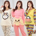 New Autumn Winter Pregnant Women Sleepwear Cotton Maternity Nursing Pajama