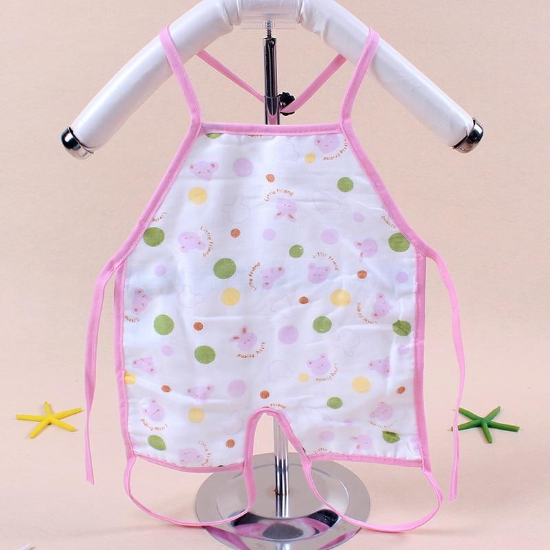 1 pc New Children Baby Todders Waterproof Long Sleeve Art Smock Bibs Apron Cartoon Feeding baberos bavoir clothing