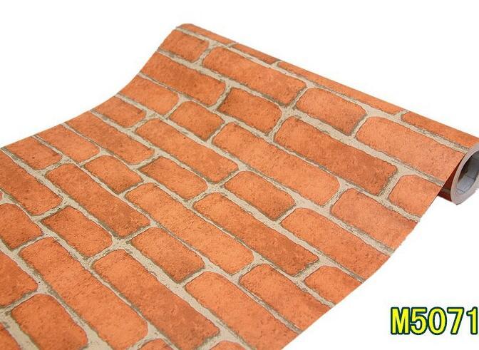 Ladrillo simple que restaura maneras antiguas de PVC papel de pared ...