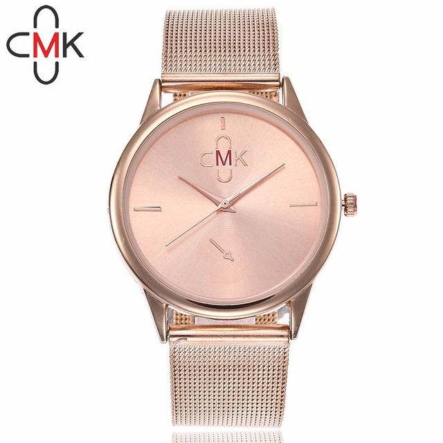 CMK Watches Ultra Thin Steel Mesh Belt Watch Fashion Casual Women Dress Watch La