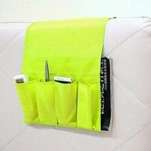 Bolsa de almacenamiento multifuncional de poliéster con 4 bolsillos, sillón, sofá, mesita de noche, mando a distancia, organizador de almacenamiento de revistas