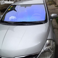 152cm X 1200cm Premium Chameleon Window Tint Solar Film For 70 Auto Window Film