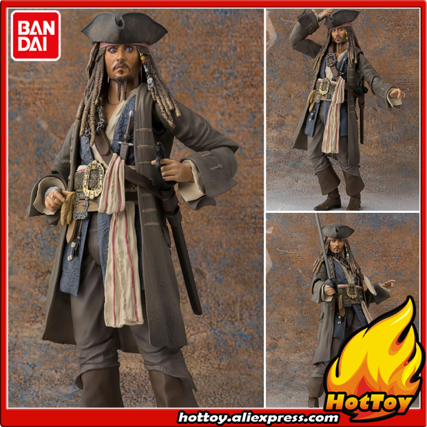 Sale Original BANDAI S.H.Figuarts SHF Action Figure - Captain Jack Sparrow Pirates of the Caribbean: Dead men tell no tales фигурка planet of the apes action figure classic gorilla soldier 2 pack 18 см
