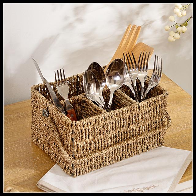 Fashion Seaweed Makeup Organizer Remote Control  Storage Box Tableware Organizador Handmade Kitchen Accessories